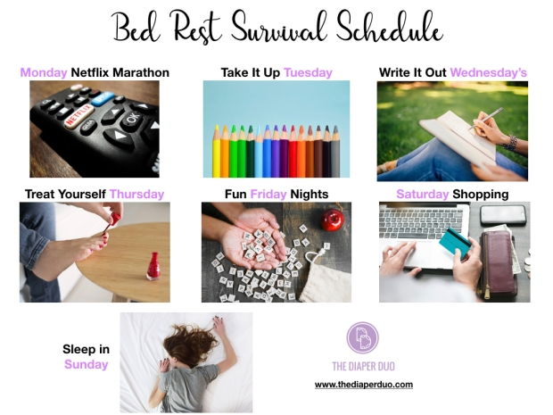 The Diaper Duo Bed Rest Survival Schedule.001